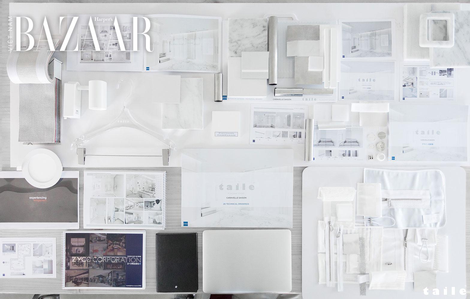 Những bản thảo mà công ty ZYCC đề nghị cho cửa hàng flagship mới của TAILE