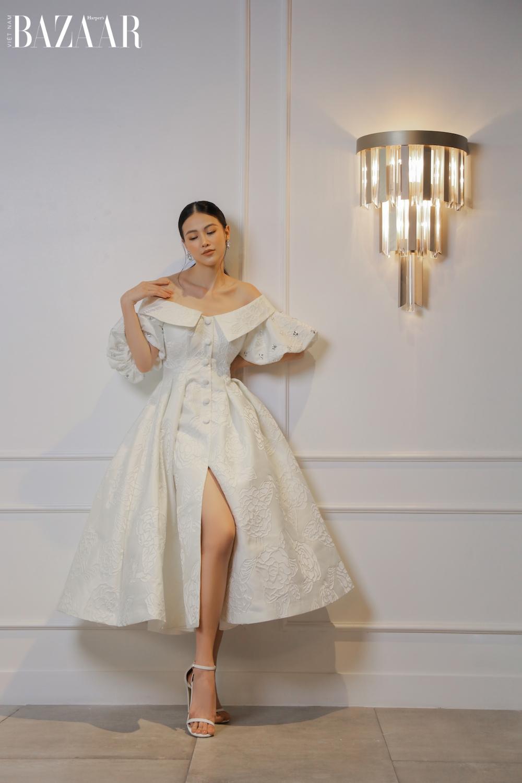 Hoa hậu Phương Khánh diện thiết kế Nguyễn Phúc Tuấn Xuân Hè 2021 1