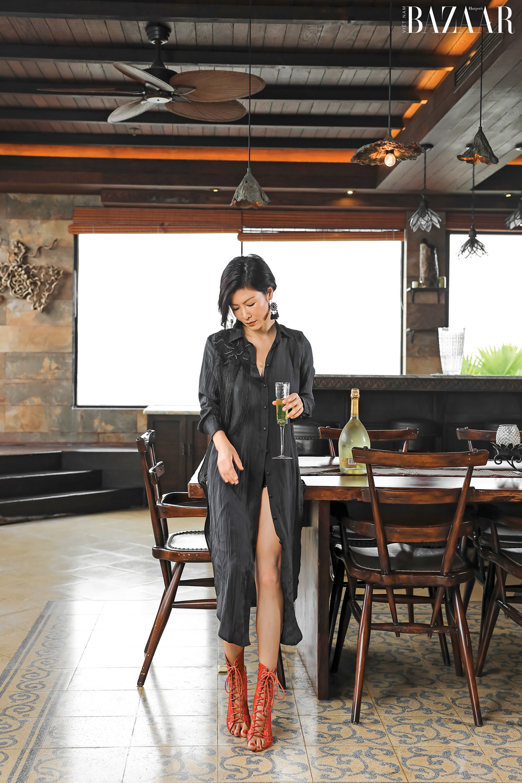 Thiết kế penthouse phong cách Đông Dương như NTK Linh Trần