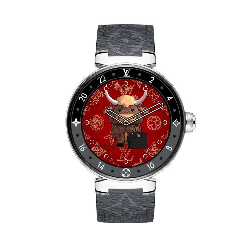 Đồng hồ Tết 2021 Louis Vuitton Chinese New Year Tambour Horizon Monogram Eclipse