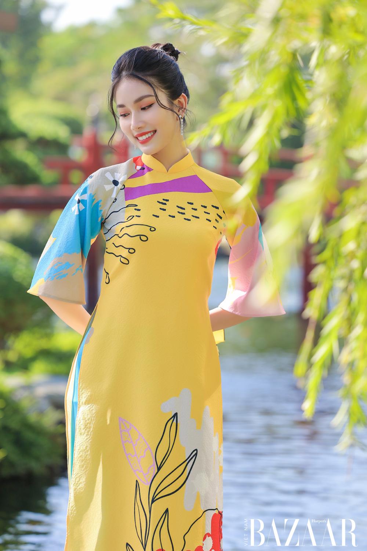 Áo dài Tết cách tân rực rỡ, hiện đại của Lê Ngọc Lâm 3