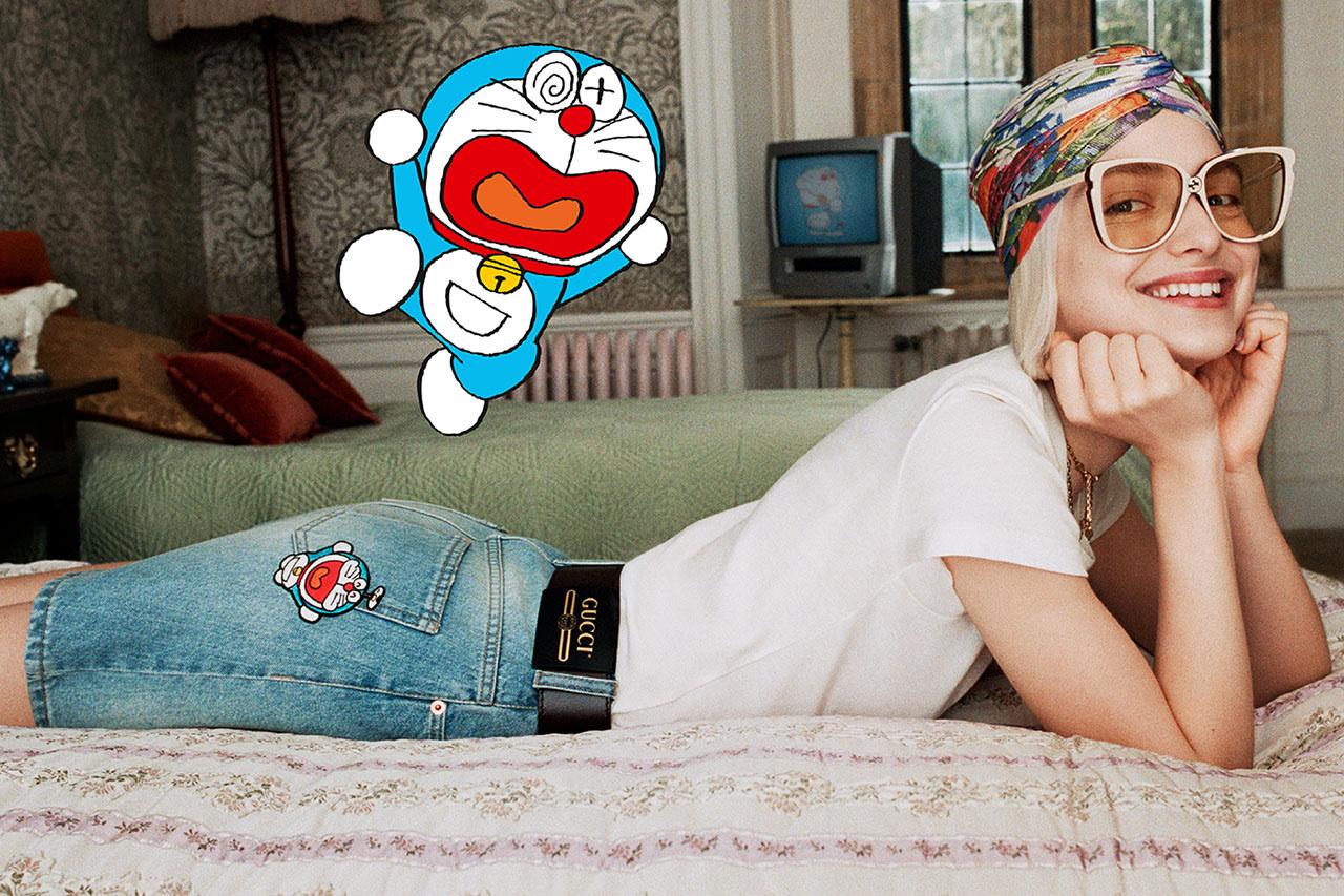 Mèo máy Doraemon làm mẫu cho bộ sưu tập Tết 2021 của Gucci 10