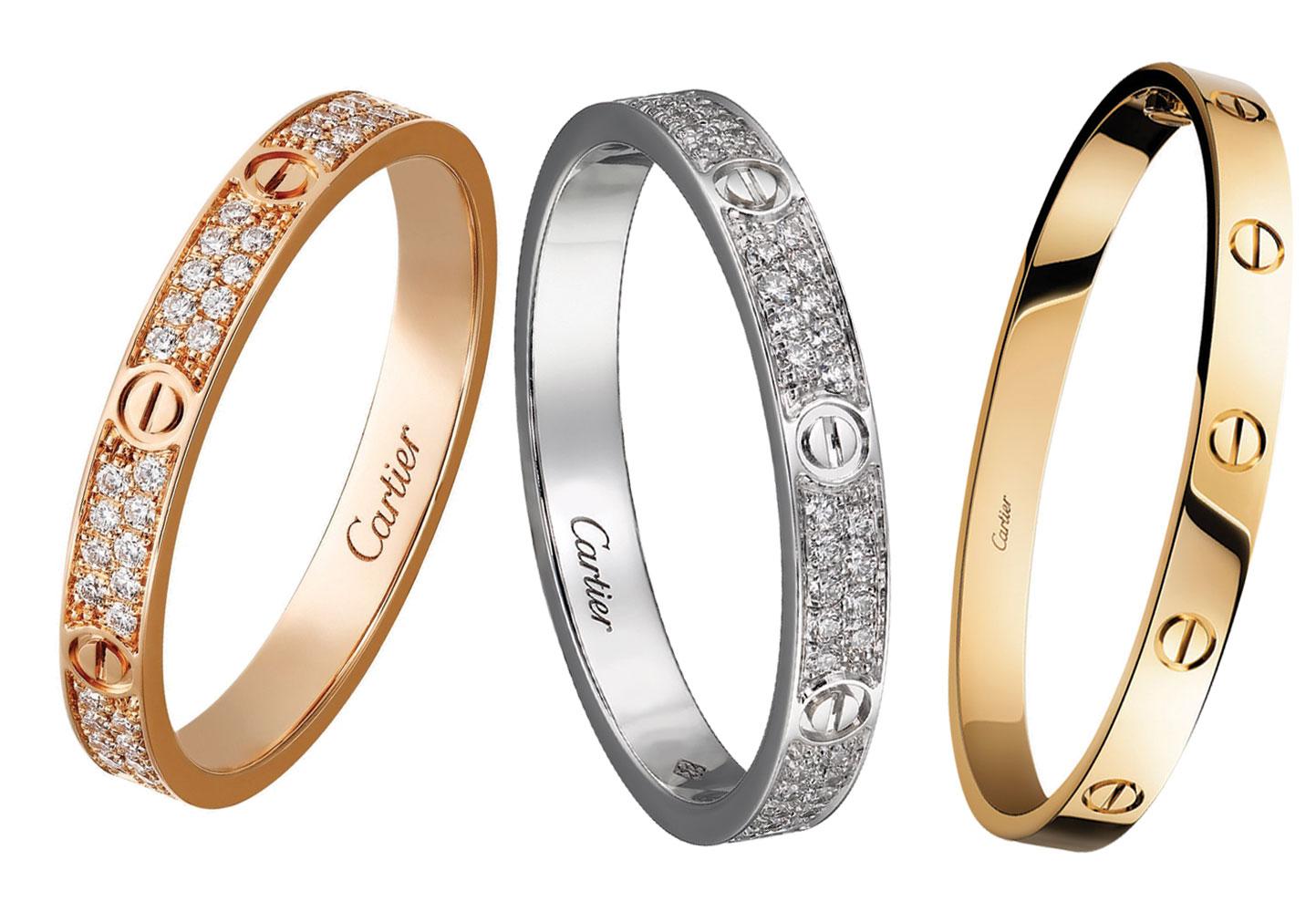 Bộ sưu tập vòng tay LOVE của Cartier vô cùng hot trên thị trường second hand