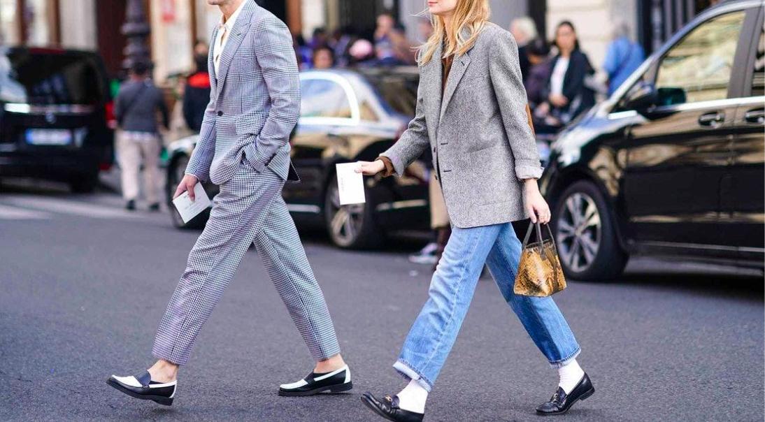 cách phối đồ với giày lười nữ