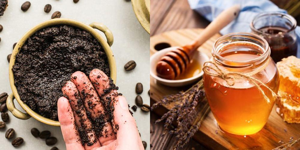 mật ong và bã cà phê