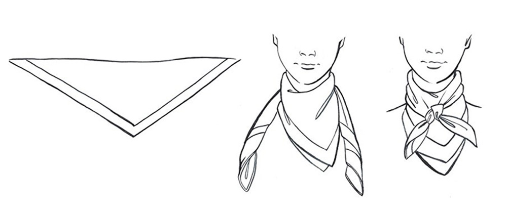 4 cách thắt khăn lụa vuông cho công sở thanh lịch như công nương Anh 3