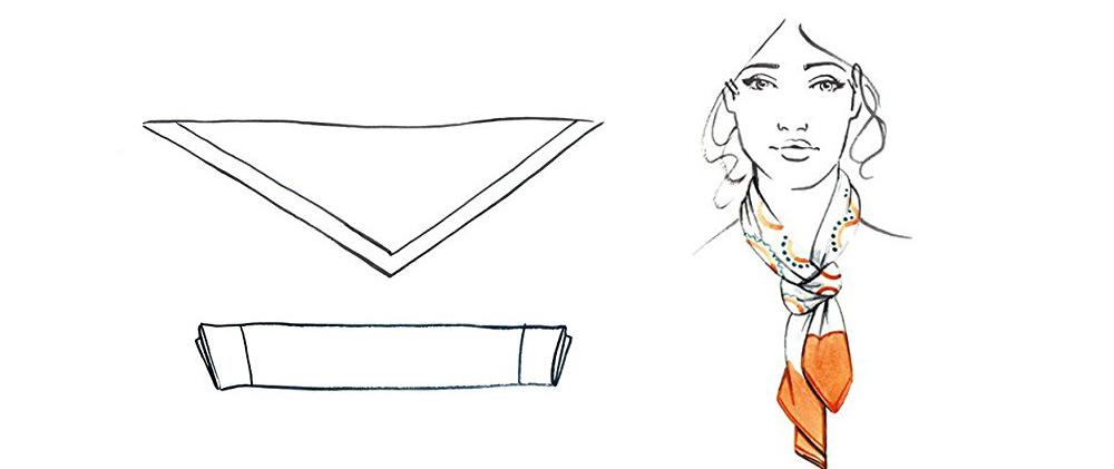4 cách thắt khăn lụa vuông cho công sở thanh lịch như công nương Anh 7