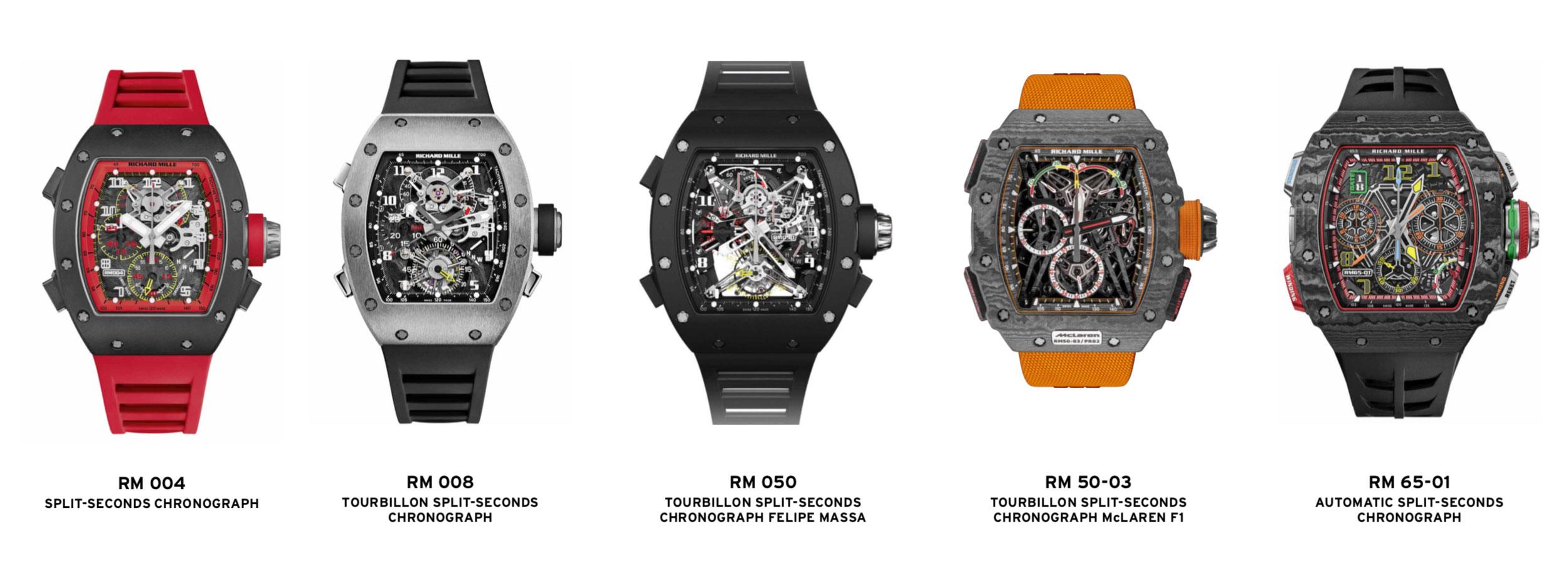 Theo dòng thời gian: Sự tiến hóa của các mẫu đồng hồ bấm giờ hai lần (split-seconds chronograph) của Richard Mille