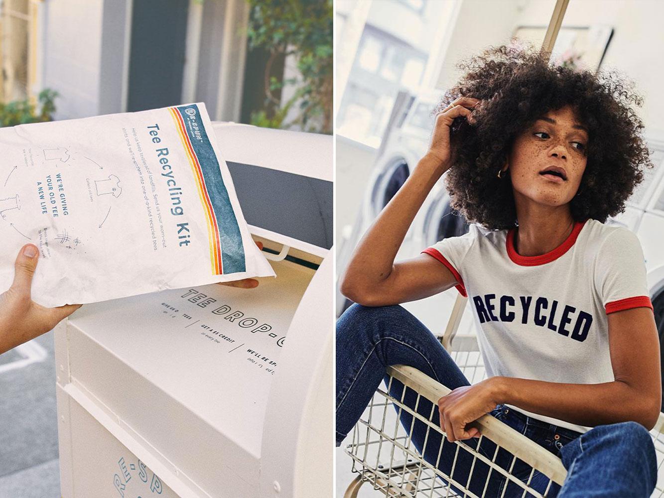Áo thun làm từ chất liệu cotton tái chế của Marine Layer, thương hiệu thời trang thân thiện với môi trường từ San Francisco, Mỹ. Ảnh: Marine Layer