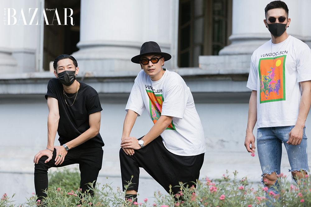 """Dàn mẫu tổng duyệt show Hừng đông của VUNGOC&SON với áo thun """"đồng phục"""" ngộ nghĩnh"""