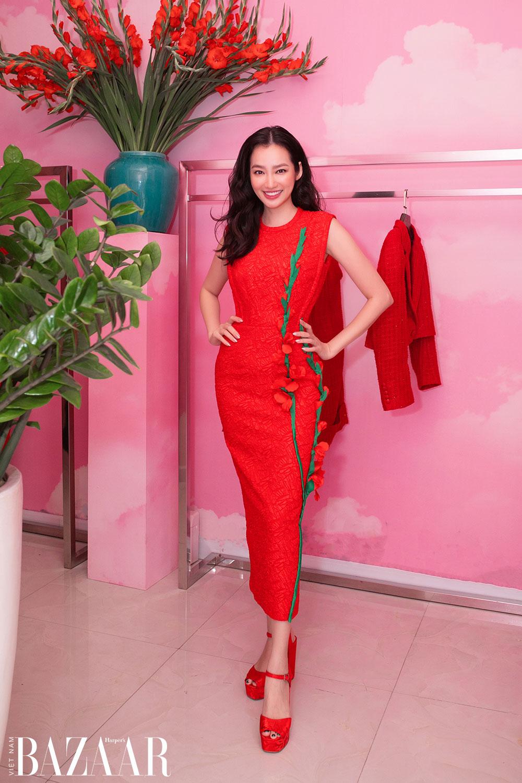 Dàn hoa hậu, á hậu khoe sắc đồng loạt chọn đầm đỏ của VUNGOC&SON 5