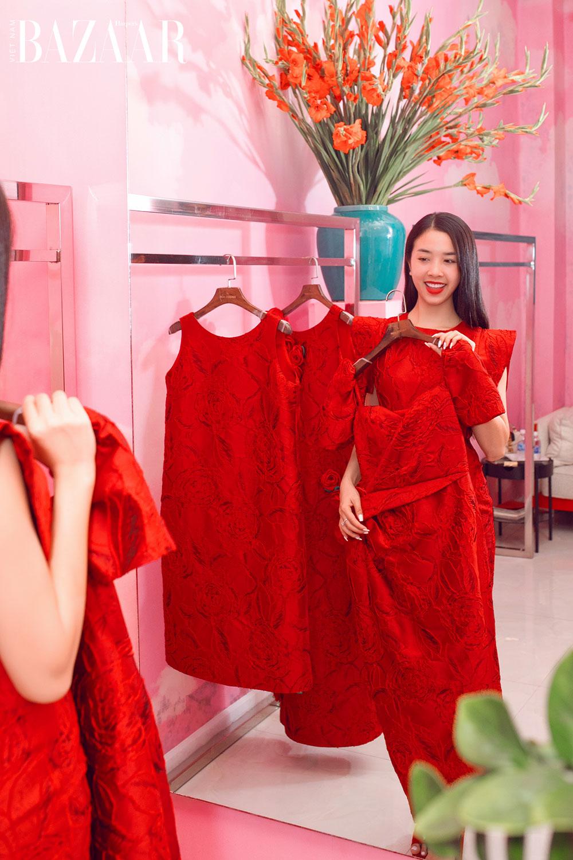 Dàn hoa hậu, á hậu khoe sắc đồng loạt chọn đầm đỏ của VUNGOC&SON 6