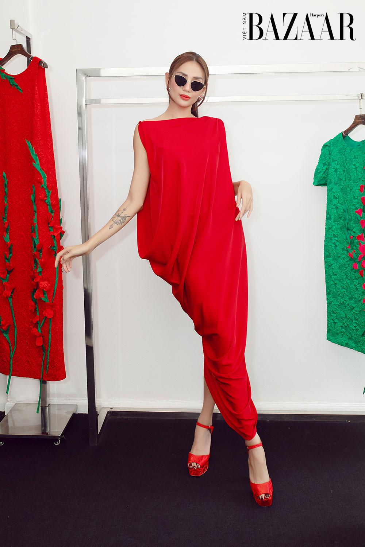 Dàn hoa hậu, á hậu khoe sắc đồng loạt chọn đầm đỏ của VUNGOC&SON 12