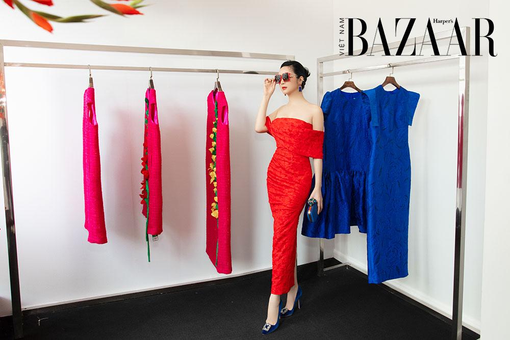 Dàn hoa hậu, á hậu khoe sắc đồng loạt chọn đầm đỏ của VUNGOC&SON 1