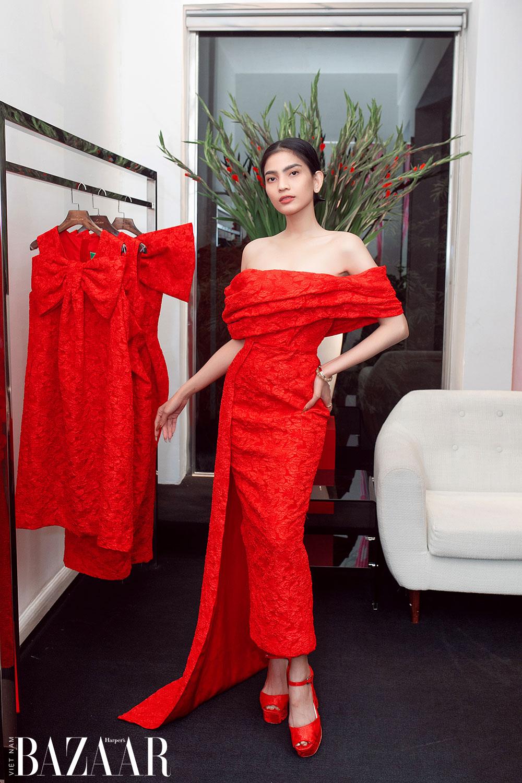 Dàn hoa hậu, á hậu khoe sắc đồng loạt chọn đầm đỏ của VUNGOC&SON 9