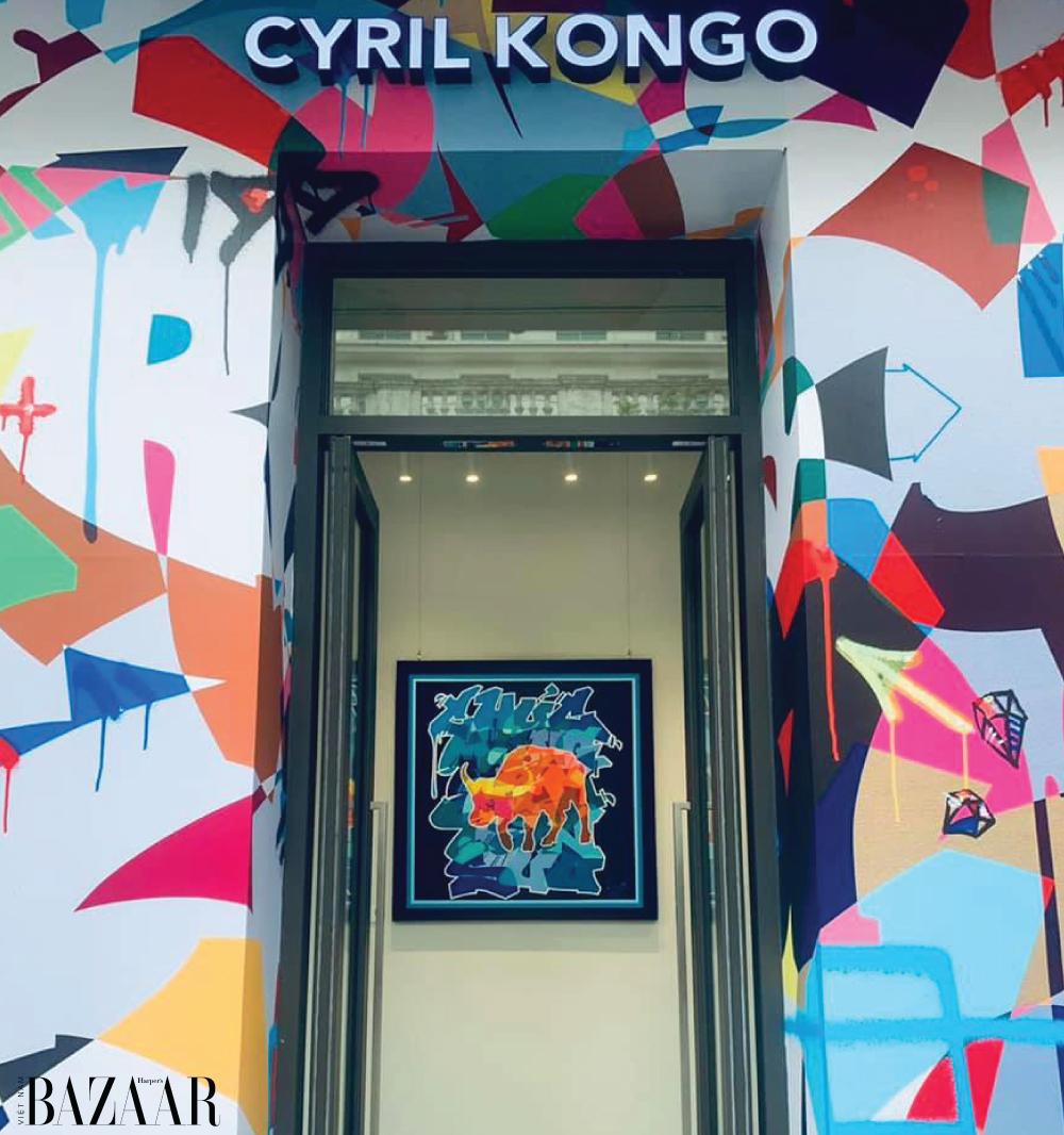"""Bức tranh """"Kongo 2021"""" hiện đang được trưng bày tại Cyril Kongo Vietnam Gallery."""