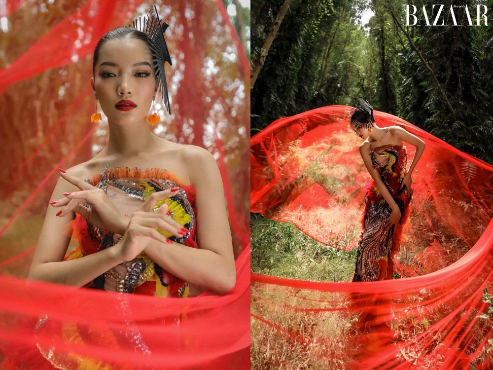 Lâm Bích Tuyền khoe quê hương An Giang qua bộ ảnh thời trang Tết 2021