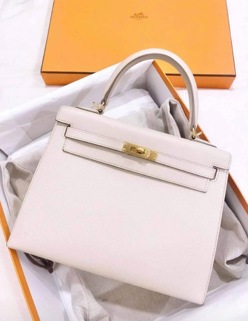 Một trong hai chiếc túi Hermès Birkin của Ninh Dương Lan Ngọc. Ảnh: Instagram @ninh.duong.lan.ngoc.