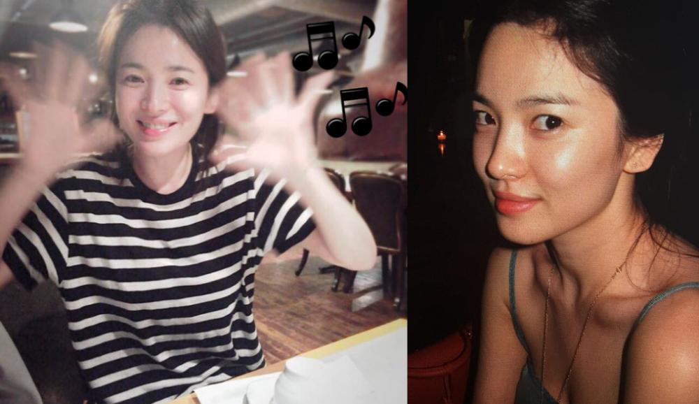Song Hye Kyo nổi tiếng với làn da sáng bóng, khoẻ đẹp. Ảnh: Instagram @kyo2211.