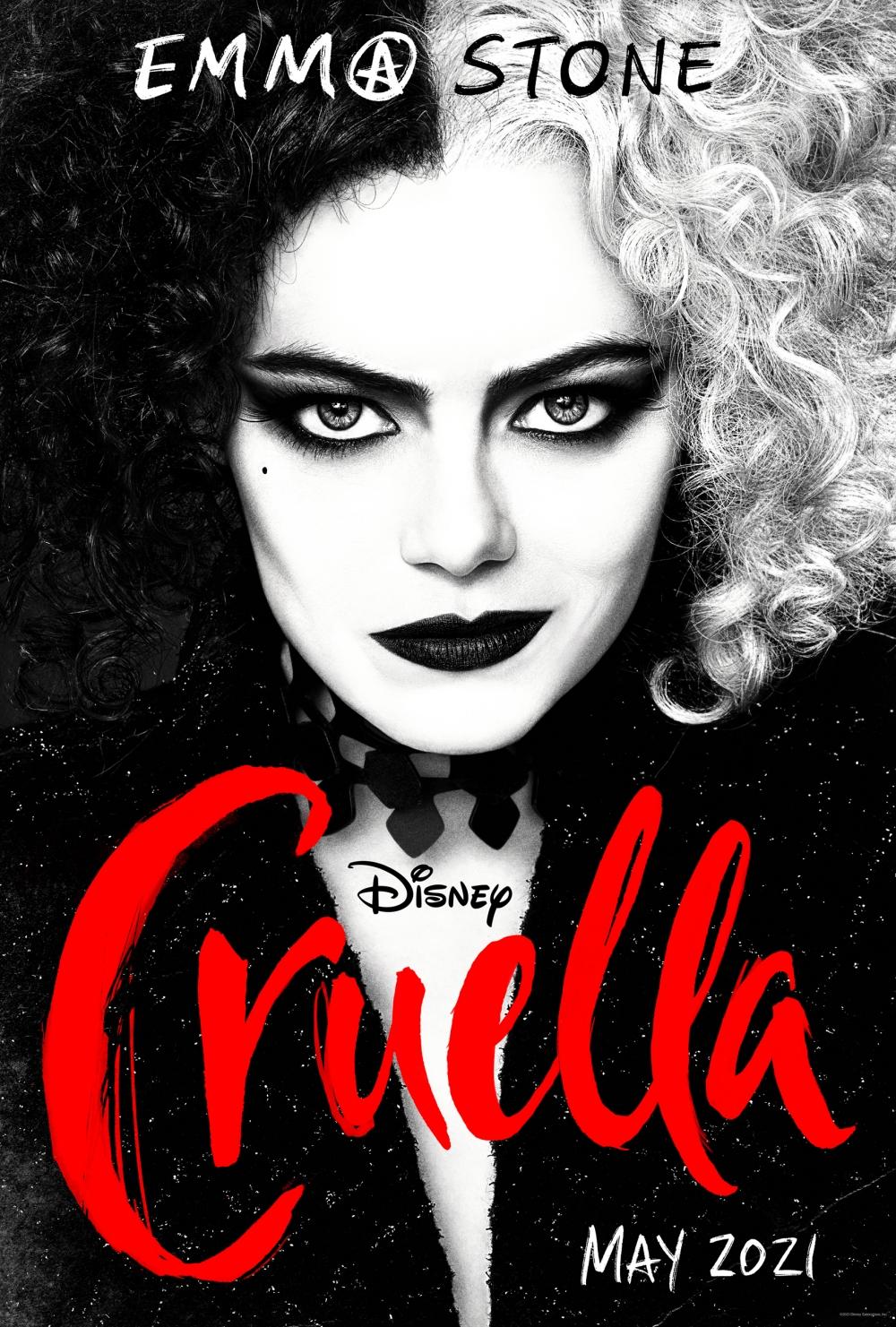 Poster chính thức của Cruella. Ảnh: Twitter @Disney.