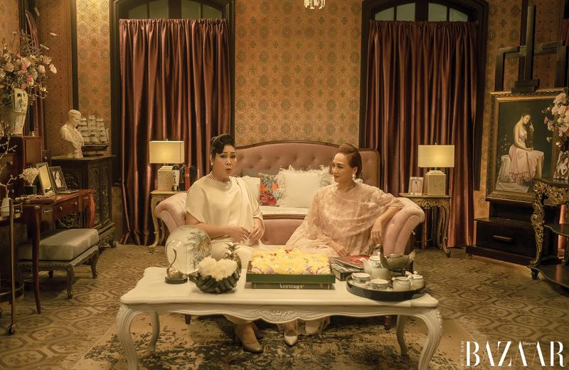 Căn phòng của cô chị thứ Lý Lệ Hồng sử dụng tông màu hồng ngọt ngào.