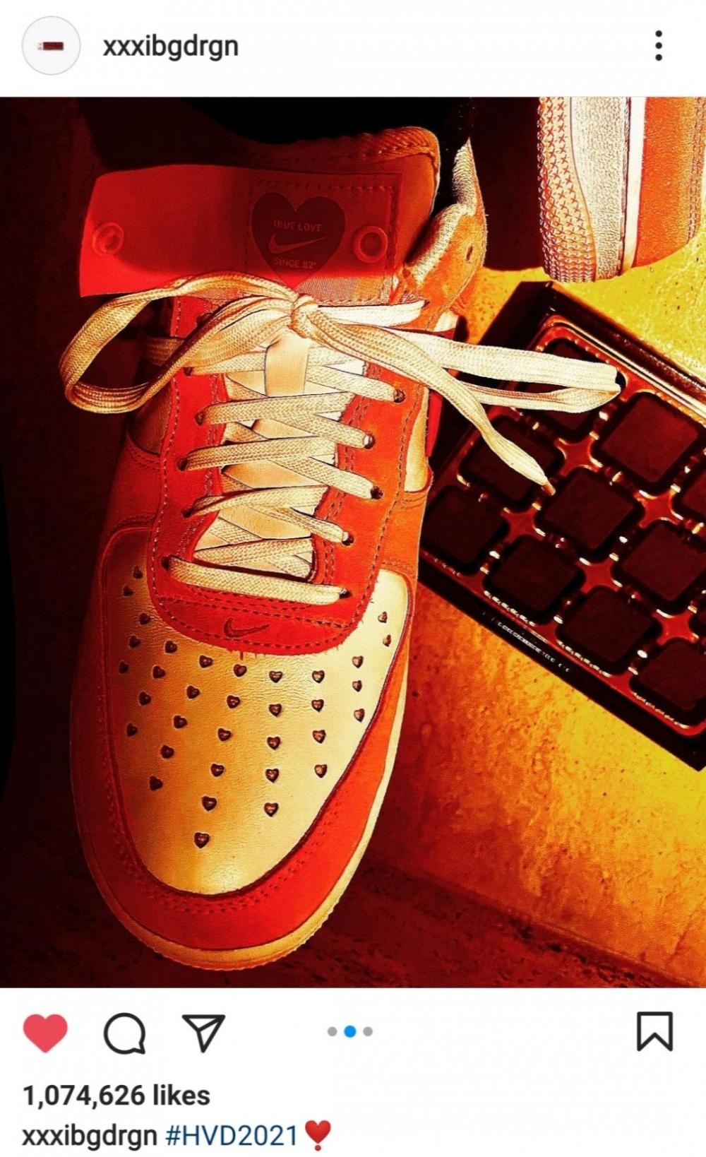 G-Dragon khiến giá giày Nike Air Force 1 phiên bản Valentine tăng 137% 1