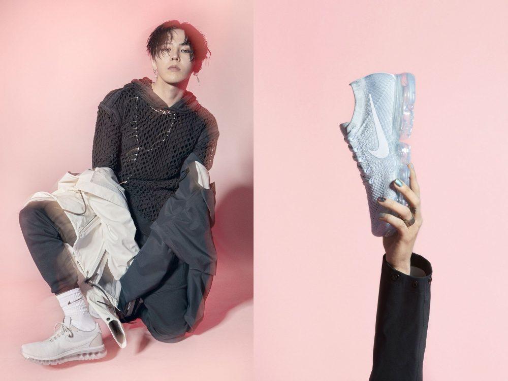 """Đôi Nike Vapormax từng """"lập kỷ lục"""" bán hết veo trong vòng dưới 1 phút nhờ bộ ảnh KISS MY AIRS của G-Dragon. Ảnh: Nike."""