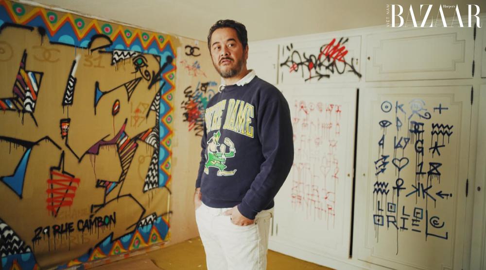 Chân dung nghệ sỹ graffiti Cyril Kongo.