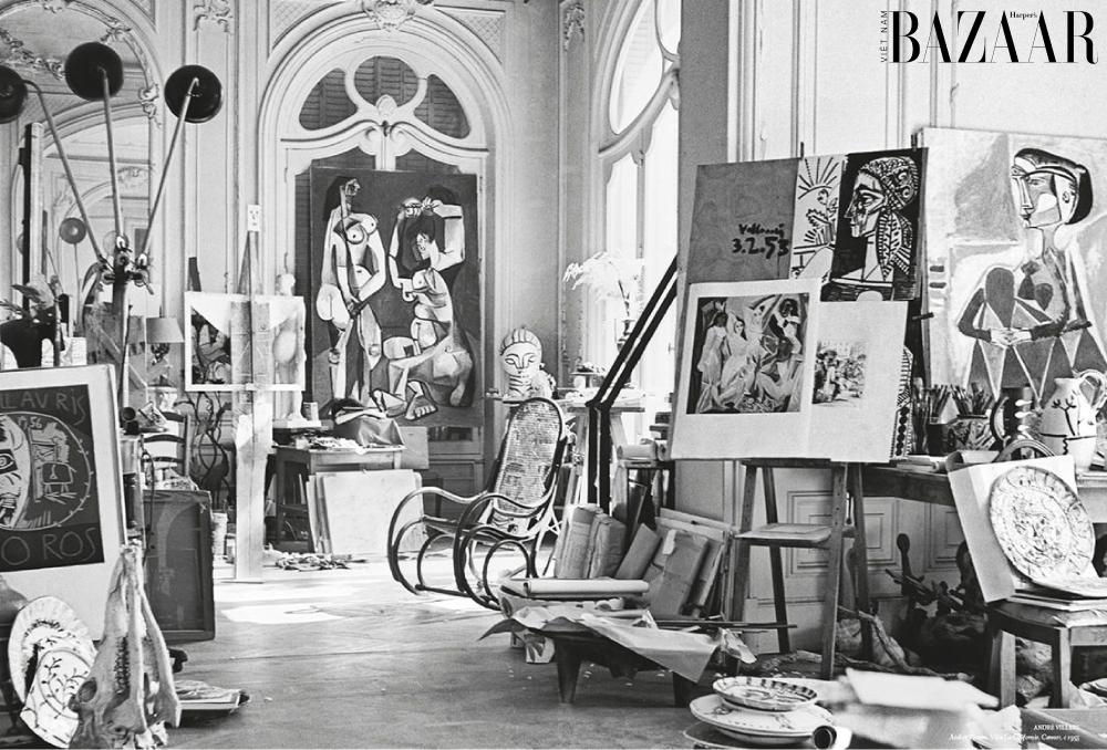 Không gian sáng tạo của danh họa Pablo Picasso.