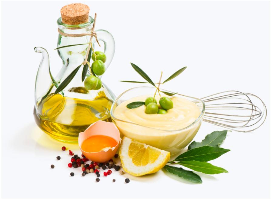 dầu ô liu và mayonnaise