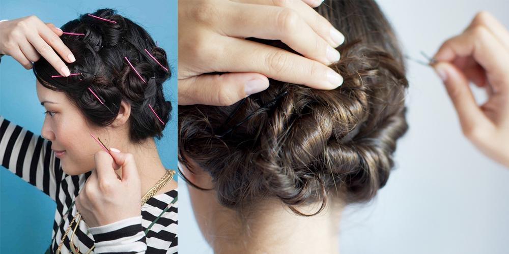 Cách làm tóc xoăn không cần nhiệt với kẹp tăm