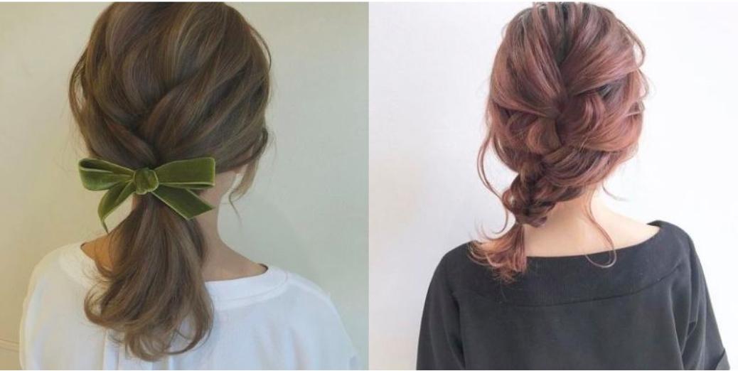 dùng ruy băng tạo điểm nhấn cho tóc