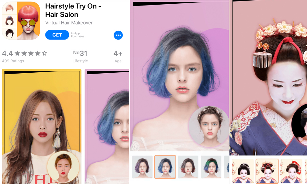 Phần mềm ghép tóc vào khuôn mặt Hairstyle try on - Virtual Hair Makeover
