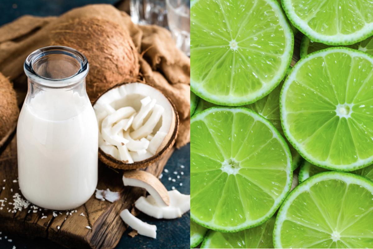 chanh và nước cốt dừa