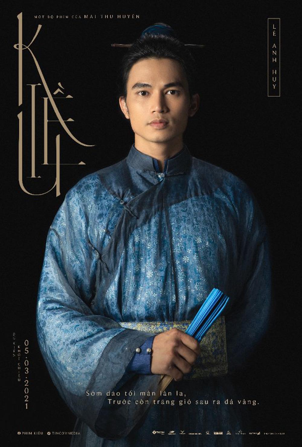 Tạo hình Thúc Sinh của Lê Anh Huy trong phim Kiều (2021)