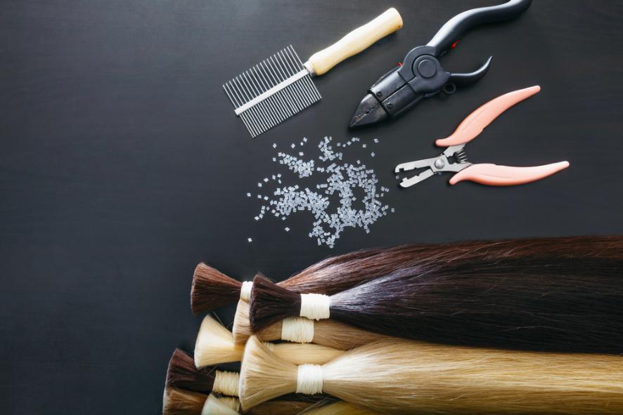dụng cụ nối tóc