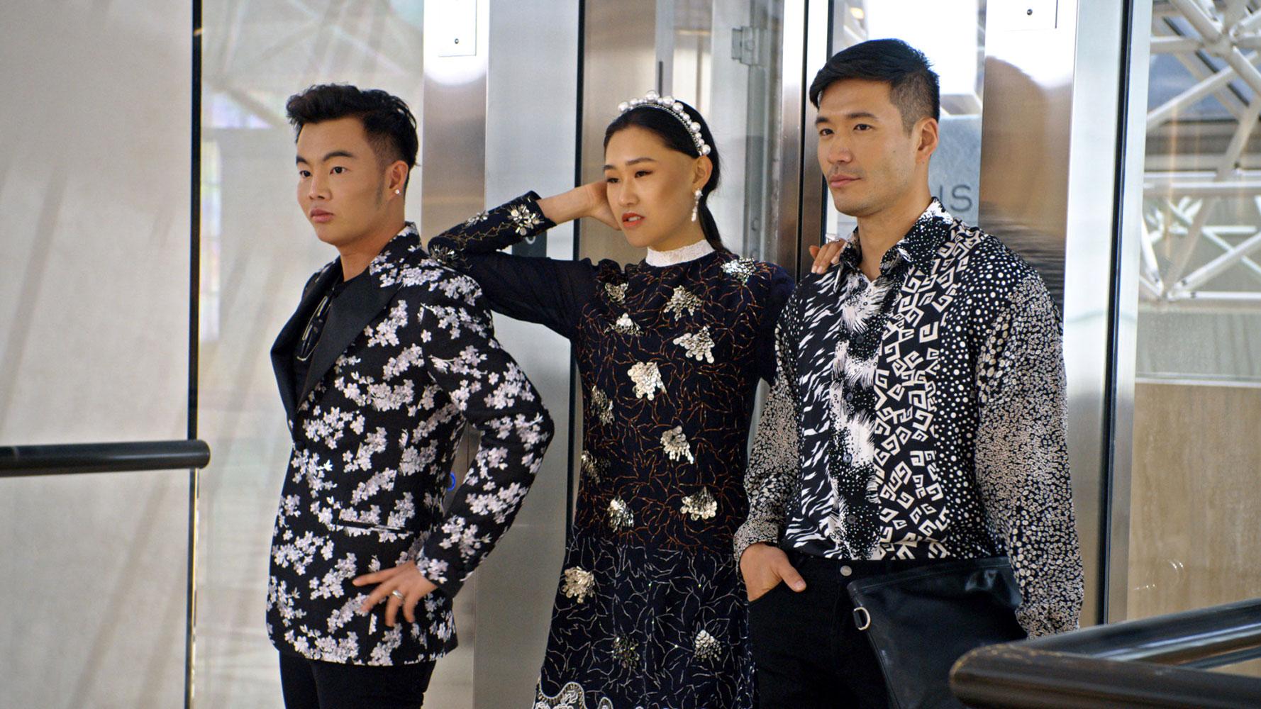 Từ trái sang: Kane Lim, Jamie Xie và Kevin Kreider, ba thành viên của dàn nhân vật chính mùa 1 Bling Empire.