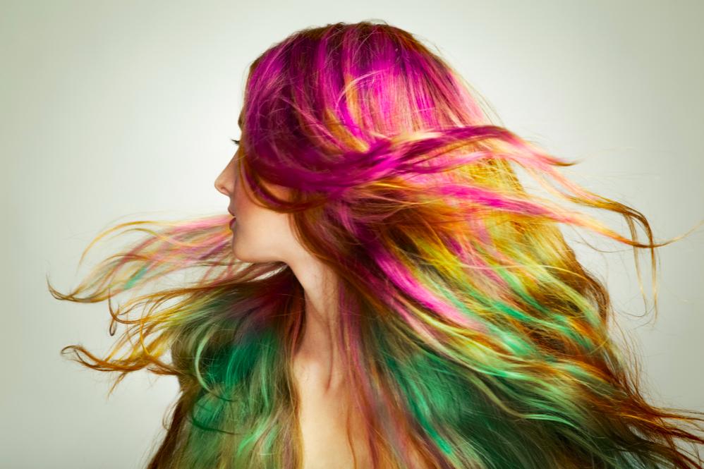 nhuộm tóc nhiều màu