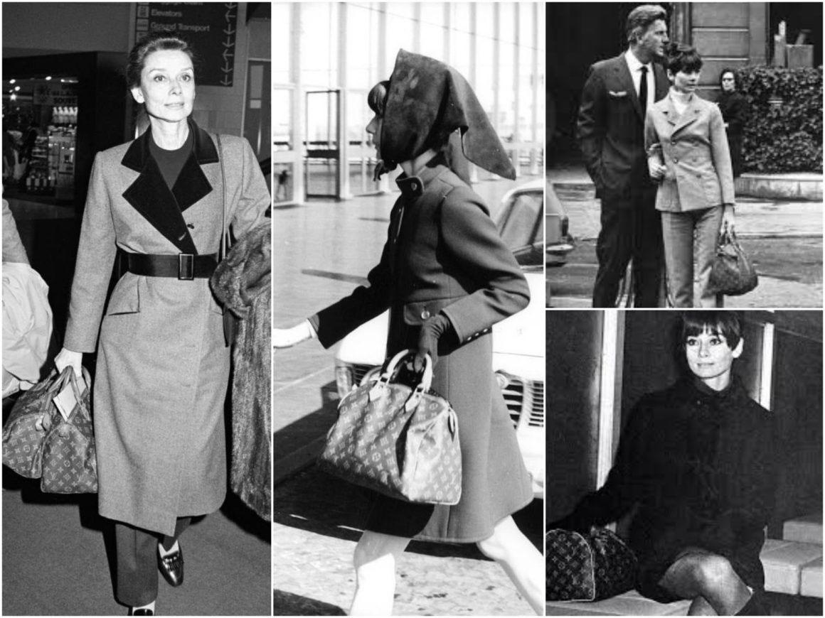 Audrey Hepburn và chiếc túi Louis Vuitton Speedy yêu thích. Ảnh: The Chic Icon