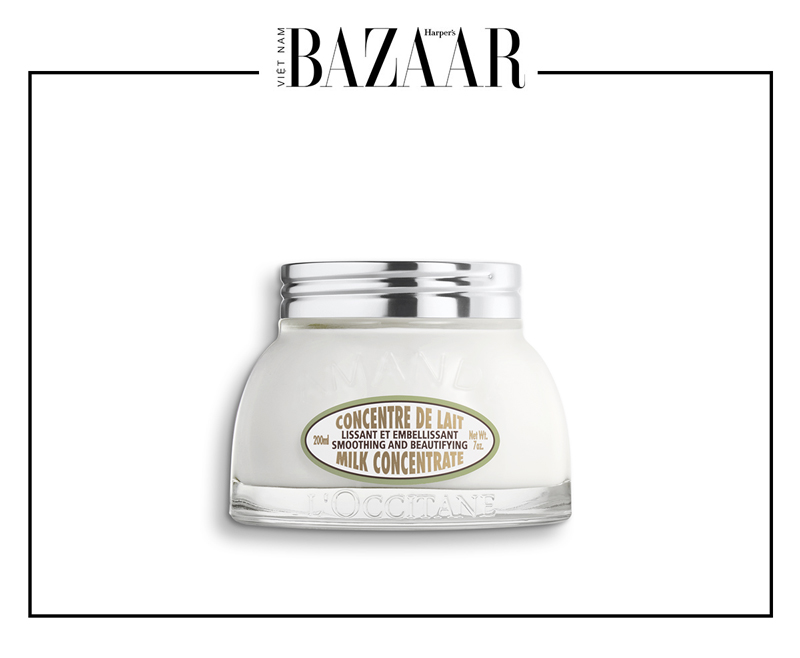 BZ-duong-am-da-body-oil-and-body-lotion-L'Occitane-Almond-Smoothing-and-Beautifying-Milk-Concentrate