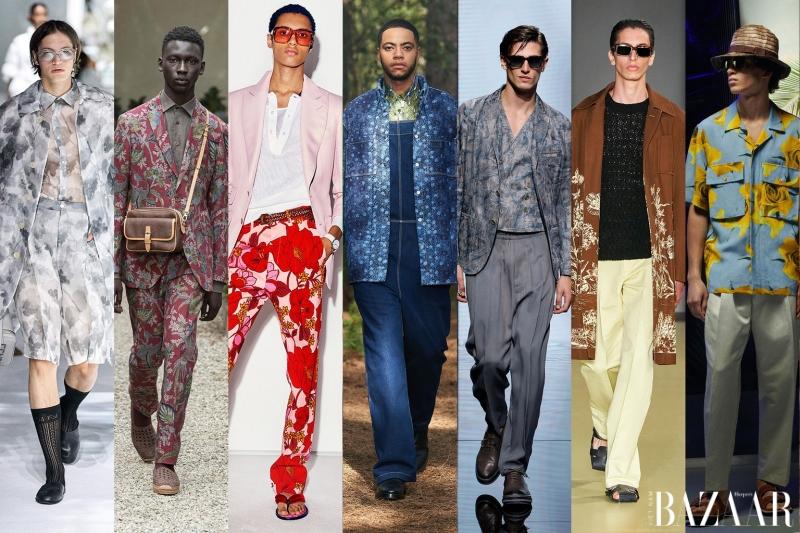 Sự đổ bộ của họa tiết Fresh Florals trên các thiết kế suit, chemise nam tính