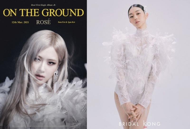 Đầm Bridal Kong thuộc BST Xuân - Hè 2021 của nhà mốt Hàn Quốc. Ảnh: Twitter @BLACKPINKOFFICIAL, @Hellogu18.