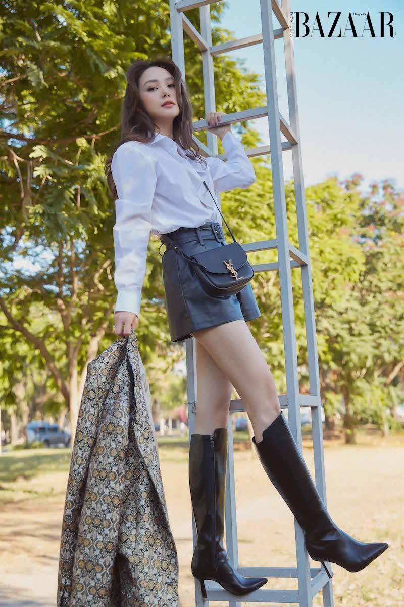 Minh Hằng đẳng cấp với street style hàng hiệu phong cách Uptown Girl 11