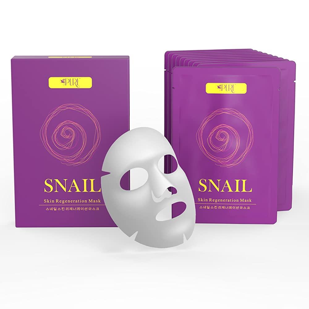 LA PURE Snail Regeneration Korean Facial Mask
