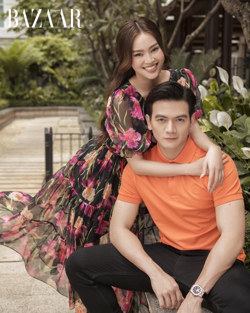 Ninh Dương Lan Ngọc nữ tính trong đầm hoa diên vỹ SIXDO 2