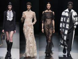 Valentino Thu Đông 2021: Tối giản, hiện đại với gam trắng đen
