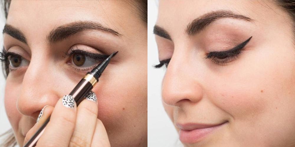 Cách vẽ eyeliner: Kẻ mắt từ ngoài vào
