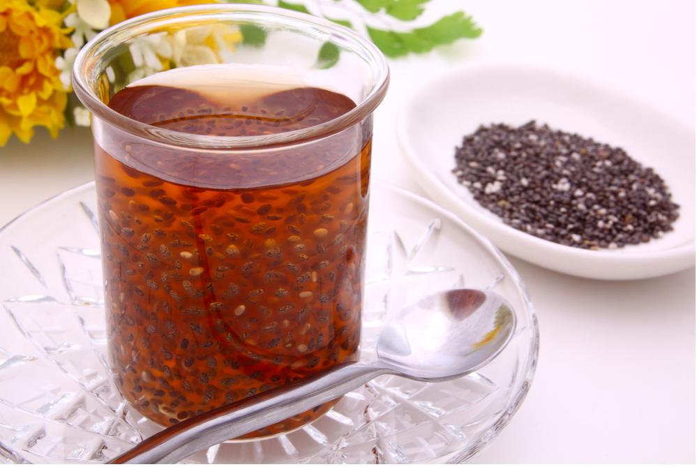 trà bí đao hạt chia