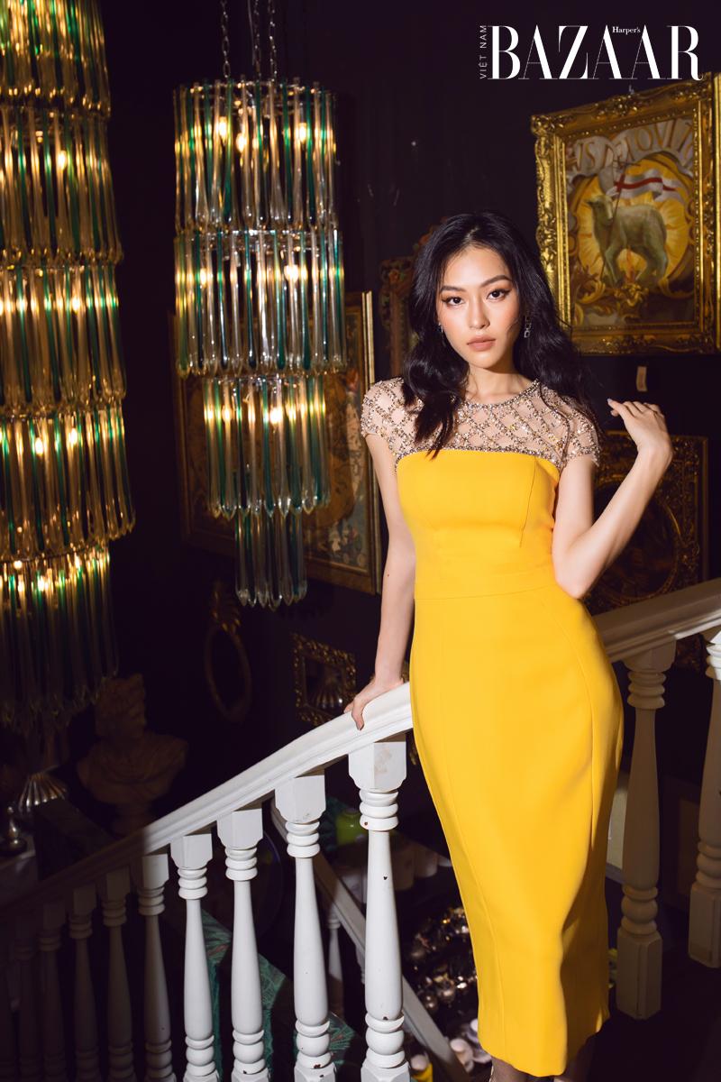 """""""Chương Tử Di của Việt Nam"""" Minh Hà lột xác với trang phục quyến rũ từ NTK Đỗ Long"""