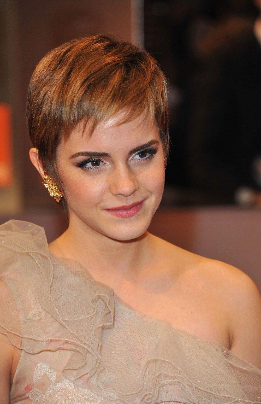 Emma watson cắt tóc pixie